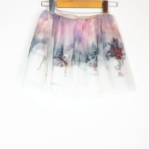 H&M winter wonderland sparkly tulle skirt